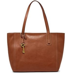 NWT Fossil Emma leather tote bag